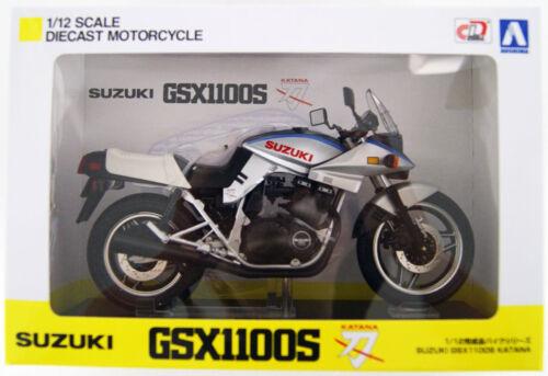 Aoshima Skynet 05245 Suzuki GSX1100S KATANA SD Blue Silver 1//12 Scale Finished