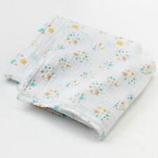 Infant Boys Girls Muslin Swaddle Summer Blankets Yellow Green Elephant Blanket
