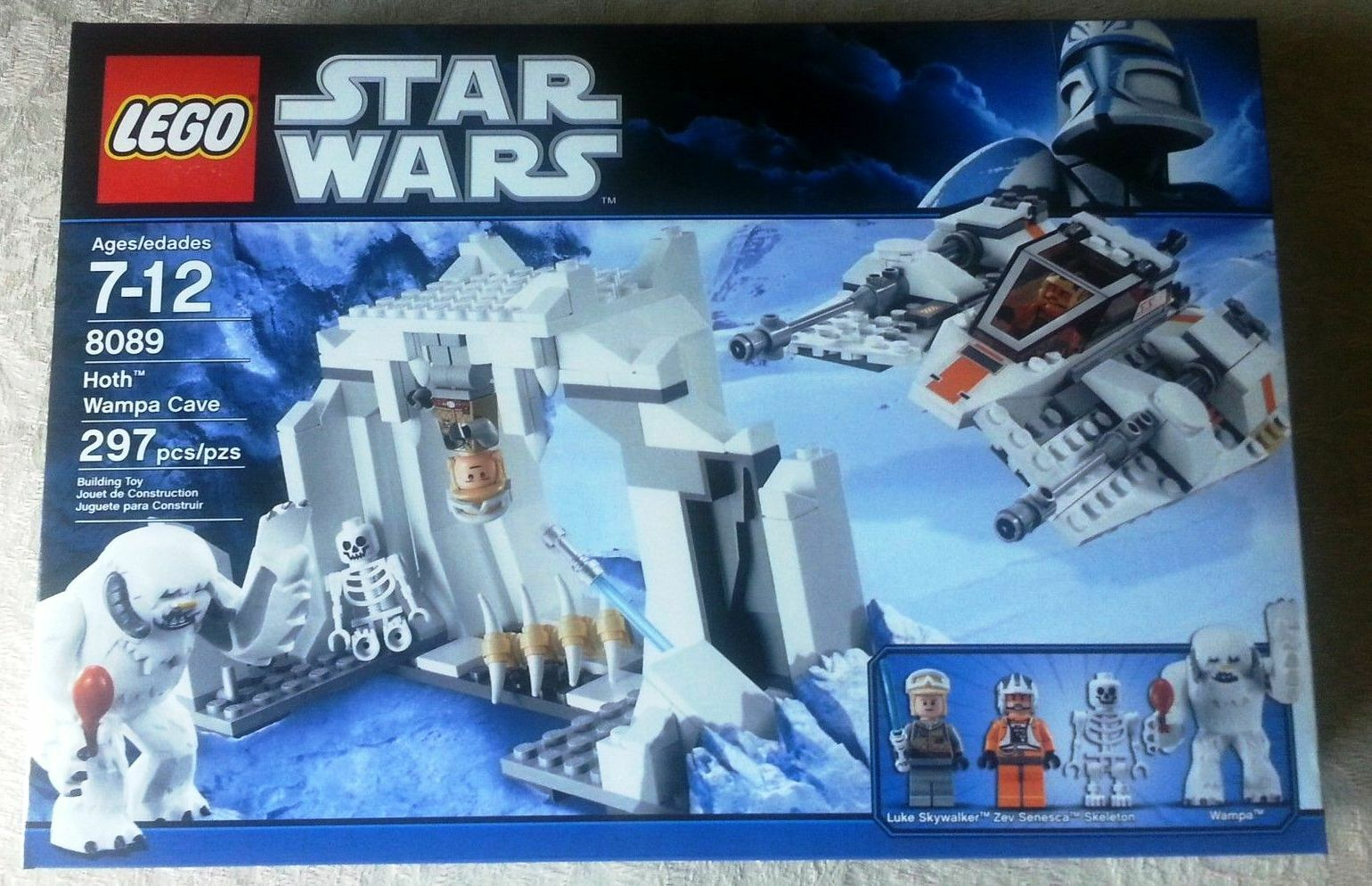RETIrosso Star Wars Lego 8089 HOTH WAMPA CAVE 100% COMPLETE w/ BOX & INSTRUCTIONS