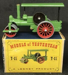 Mint-Matchbox-Yesteryear-Y11-Series-1-No-3-Aveling-Porter-Steam-Roller-amp-D1-Box