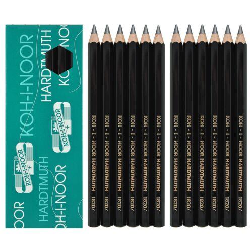 Packs of 12 Koh-I-Noor 1820 Jumbo Graphite Pencils Grade HB to 8B