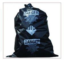 Thesafetyhouse 31 X 48 X 4 Mil Black Asbestos Bags 100roll