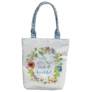 Everyday-Canvas-Tote-Bag-Featuring-Inspirational-Quote-amp-Floral-Designs