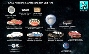 SAAB-Anstecknadeln-Pins-badges-stick-pins-1960er-bis-2010er-J-AUSSUCHEN