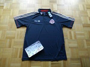 official photos 7e1cc a2b11 Details about NWT Toronto FC MLS Soccer Football Adidas TFC Polo Shirt Top  Men Large