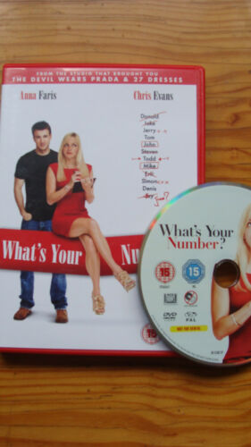 1 of 1 - What's Your Number? (DVD, 2012) Anna Faris Chris Evans