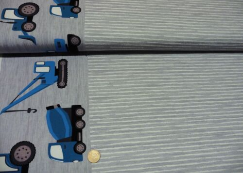 Building Panel Hilco Gris Stretch-Jersey Enfants Tissu engins Garçons jatiju