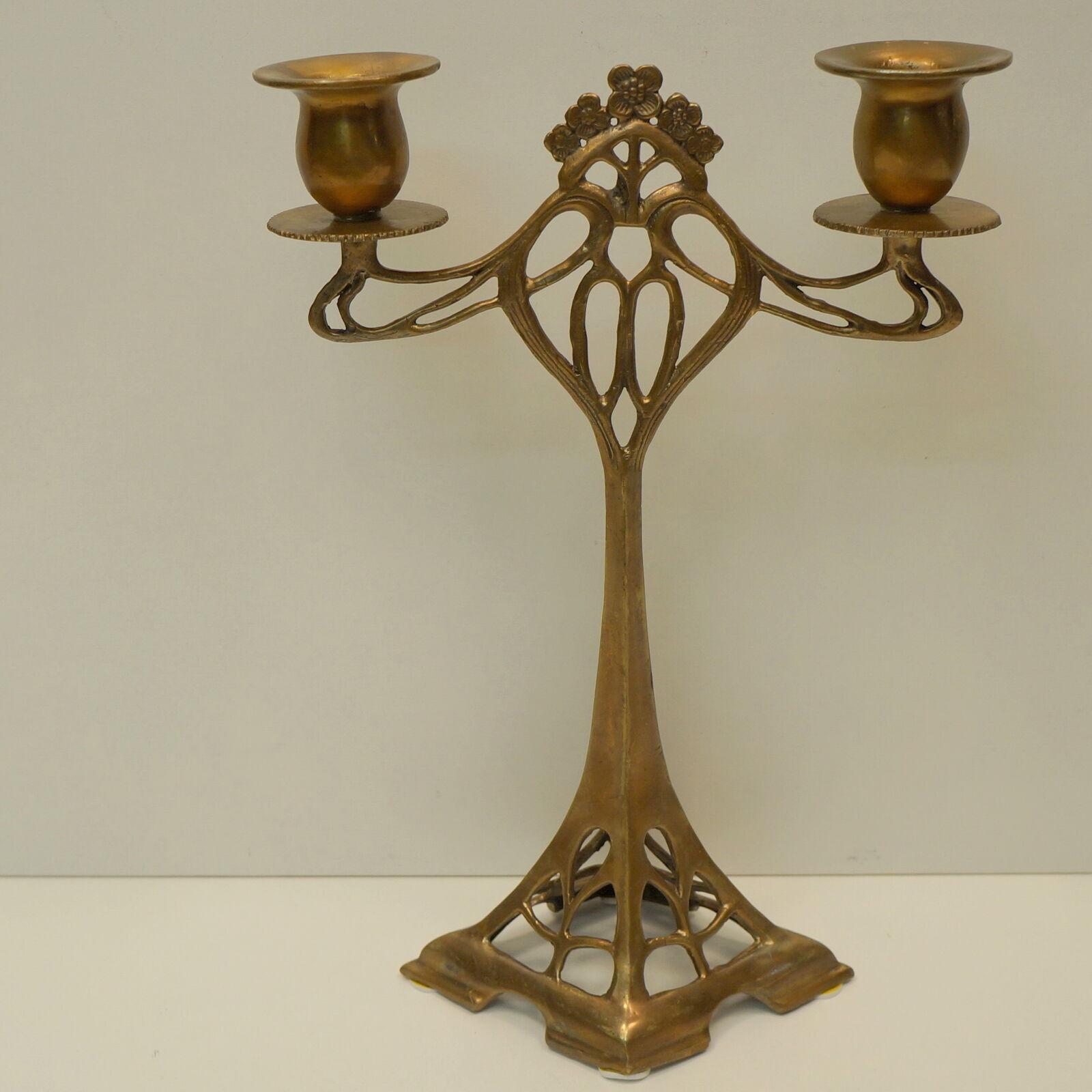 Chandelier style Art Déco Style Art Nouveau Solid Bronze