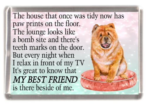 "Chow Chow Dog Fridge Magnet /""MY BEST FRIEND POEM/"" Novelty Gift by Starprint"