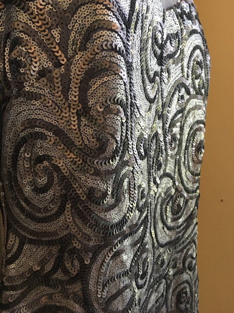 Badgley Mischka Sequence Elegant Metallisch-Grau Metallisch-Grau Metallisch-Grau Kleid Ret. Sz 10  | Internationale Wahl  | Der Schatz des Kindes, unser Glück  | Online-Exportgeschäft  | Shop  2b9ca6