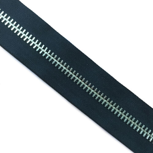 "YKK #10 One Way Metal Zipper 22/"" Silver Color Teeth"