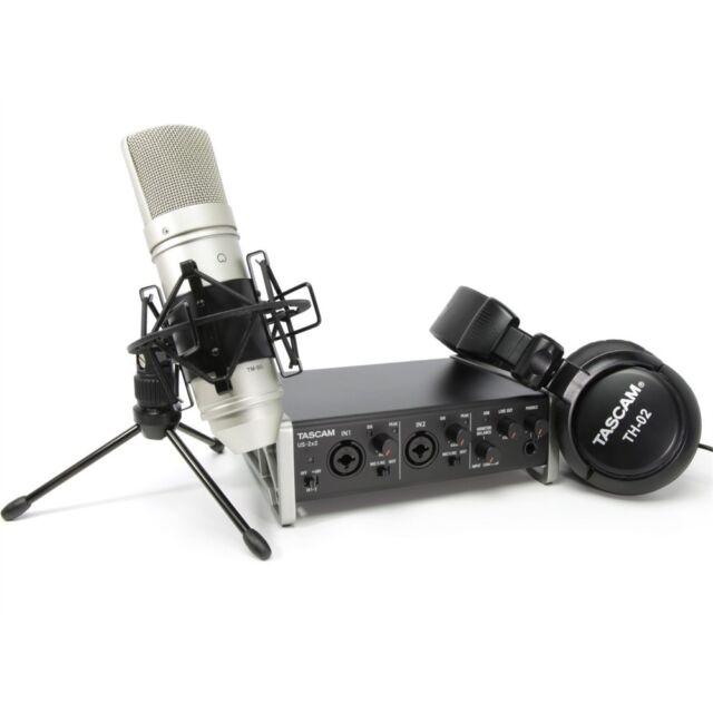 TASCAM TRACKPACK 2X2 kit con interfaccia audio, microfono, cuffie e software NEW