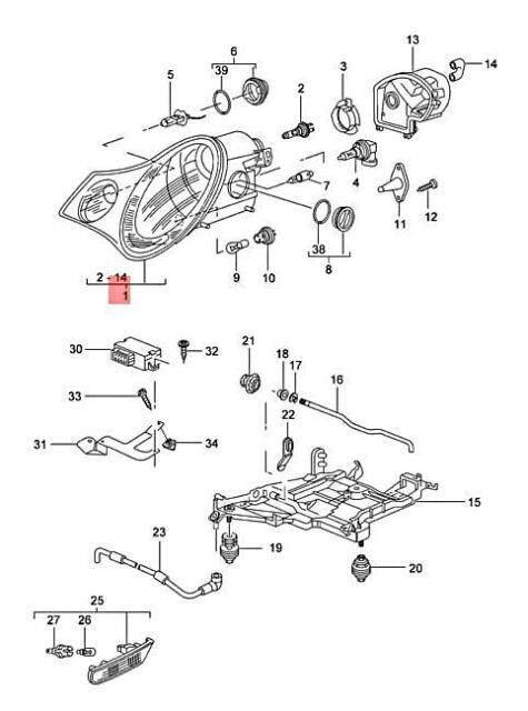porsche 996 diagrams porsche 996 carrera 911 driver left 4s xenon hid headlight head  porsche 996 carrera 911 driver left 4s