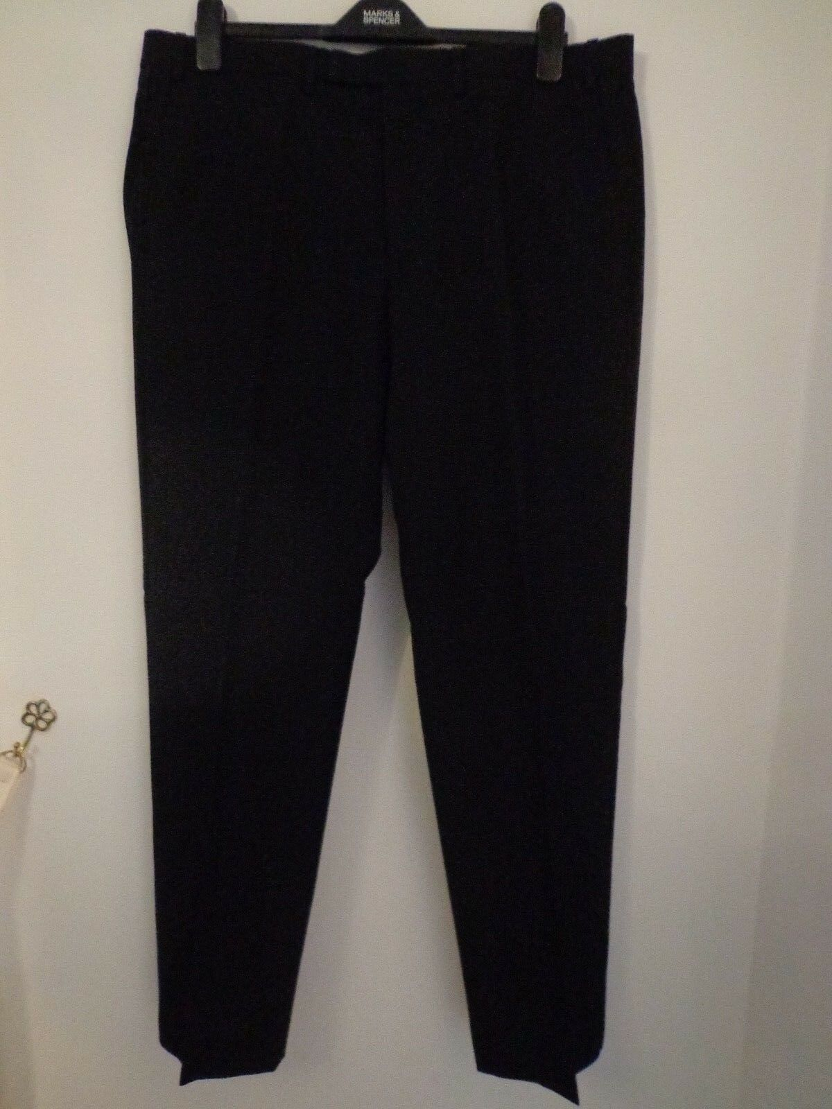 BNWT MENS M&S COLLECTION LUXURY RANGE DINNER DRESSED TROUSERS WAIST 42  I L 31