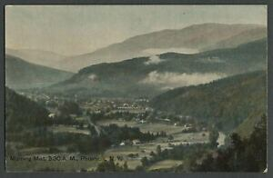 Phoenicia Ulster County NY: c.1910 Postcard MORNING MIST Birdseye View from Mtn