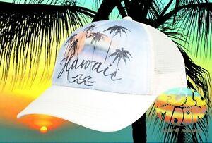 New-Billabong-Hawaii-Palm-Tree-Sunset-Womens-Trucker-Snapback-Cap-Hat