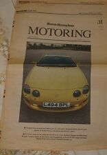 Western Morning News  Motoring Supplement 1990s 1994 Toyota Supra Road Test