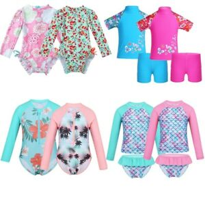 Kids-Girls-Baby-Swimsuit-Swimwear-Bathing-Suit-Rash-Guard-Outfit-UV-Protection
