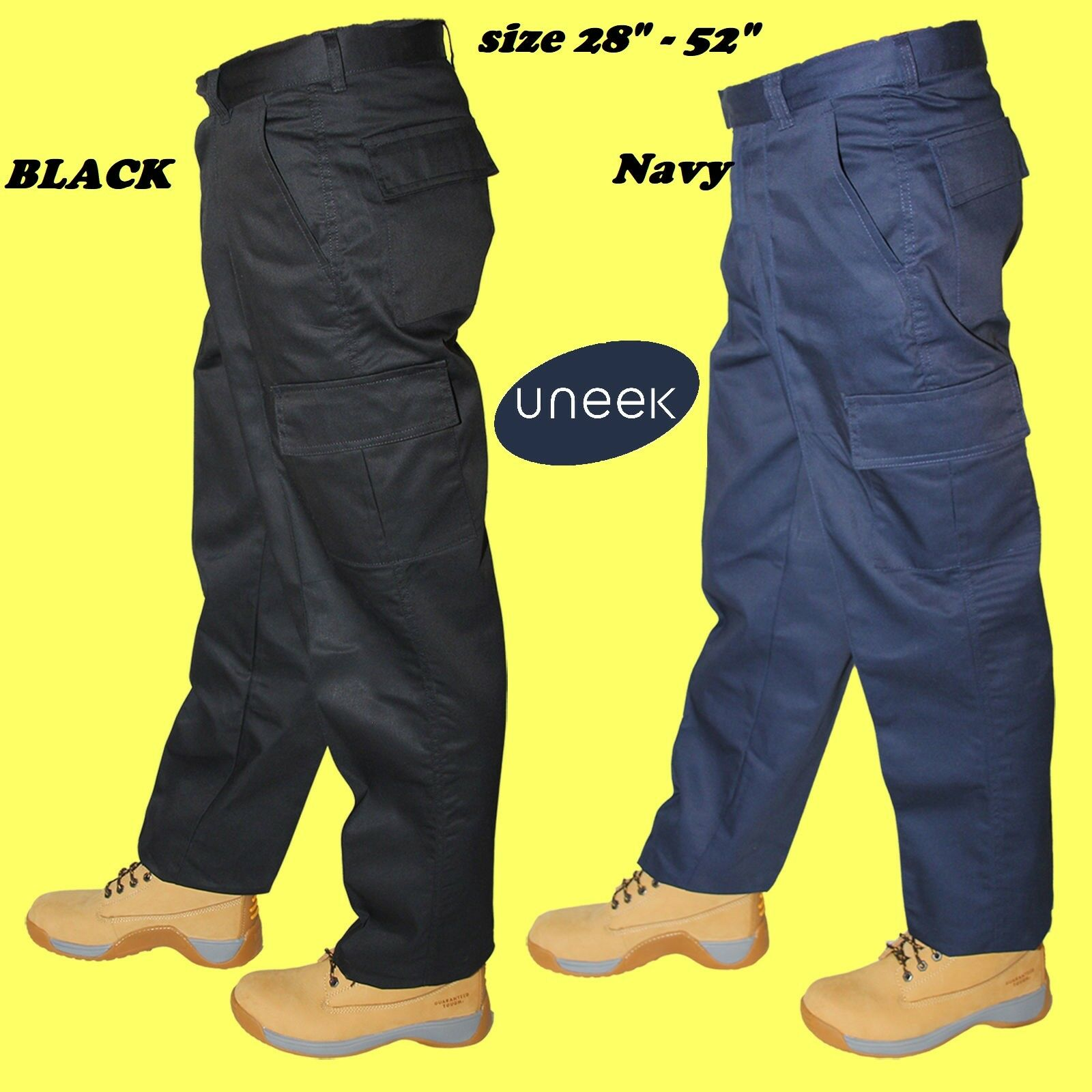 Mens Premium Work Trousers Workwear Heavy Duty NEW UK STOCK