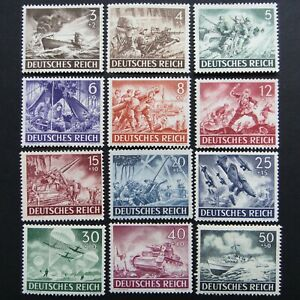 Germany-Nazi-1943-Stamps-MNH-Army-Day-and-Hero-Memorial-Day-WWII-Third-Reich-Ger