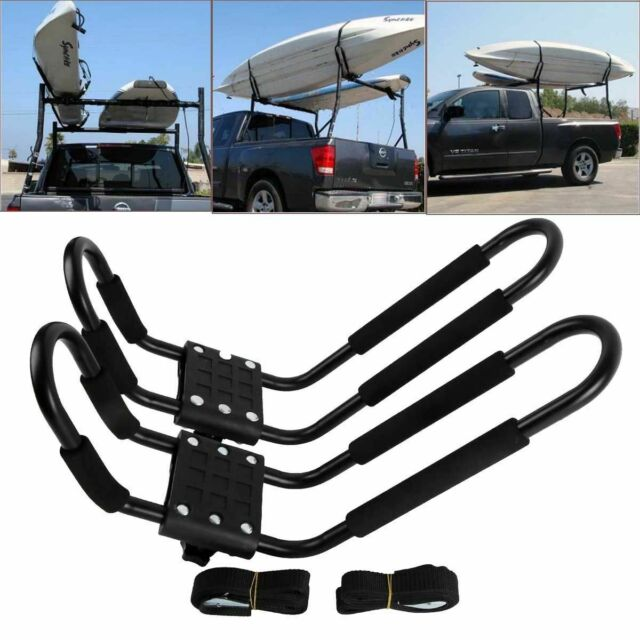 2 Pcs Kayak Carrier Boat Ski Surf Snowboard Roof Mount Car Cross J-Bar Rack X#