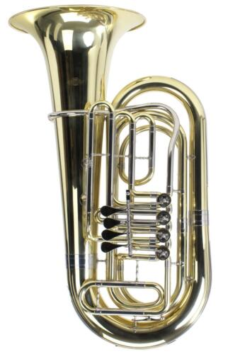 Classic Cantabile T180 3//4 Bb Tuba 4 Ventile Höhe 91 cm robuster Koffer Brass