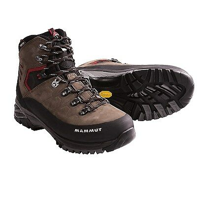 New Mens Mammut Pacific Crest GTX Hiking Boot Dark Brown -Fire 11M US