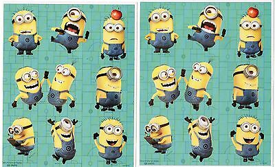 2 Sheets Despicable ME 2 MINIONS Stickers