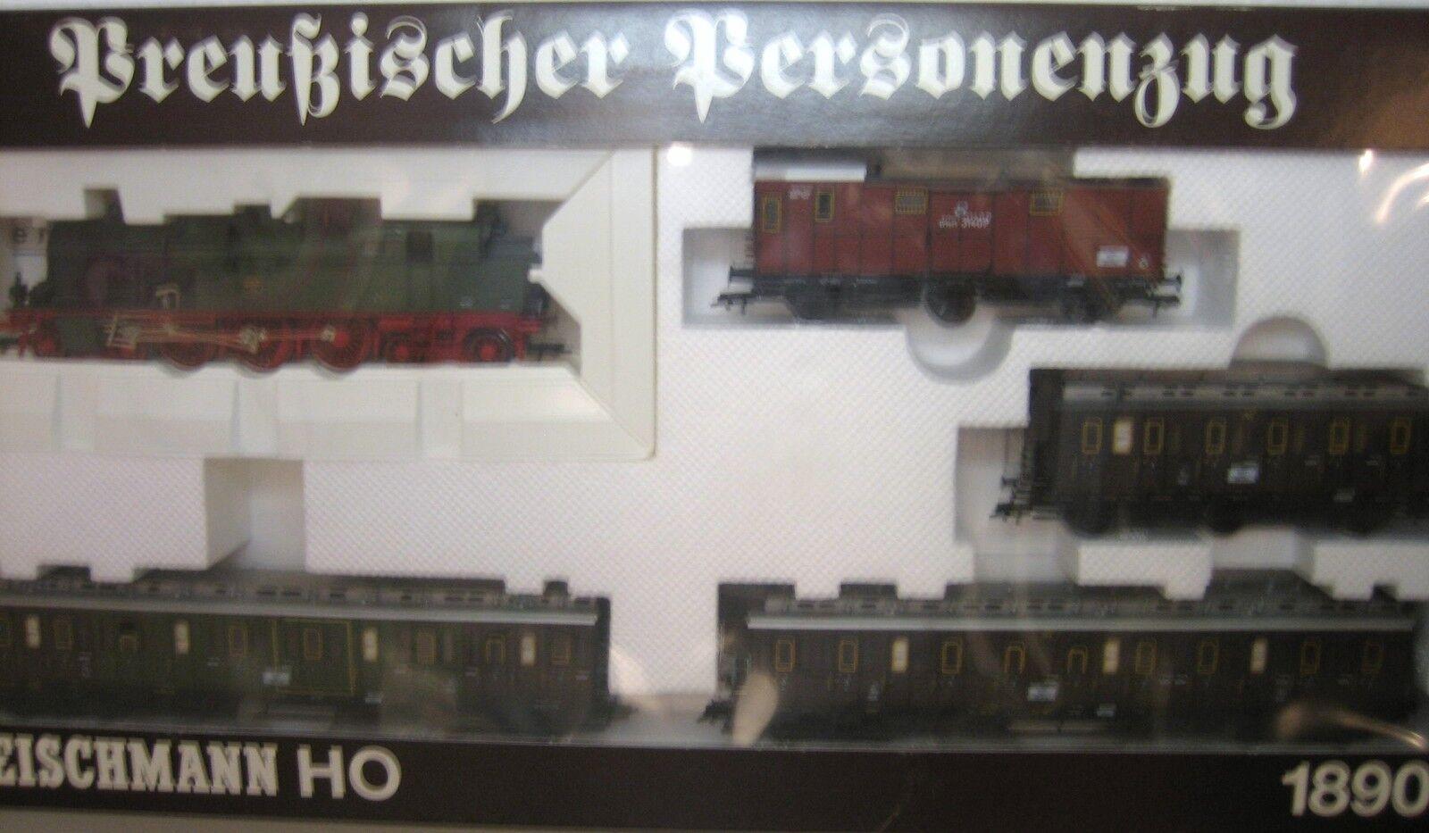 Fleischmann h0 1890 prussiano treno AC IMBALLAGGIO ORIGINALE PERFETTE CONDIZIONI