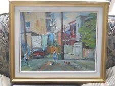 """Armand Tatossian Quebec """"RUELLES DE MONTREAL"""" Oil 16"""" by 20"""""""