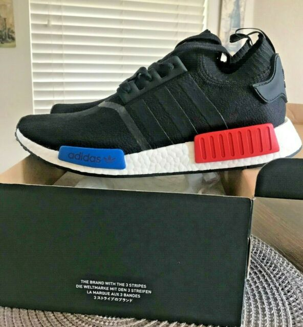 adidas NMD R1 PK Prime Knit OG Core Black Lush Red S79168 Mens Running Shoes