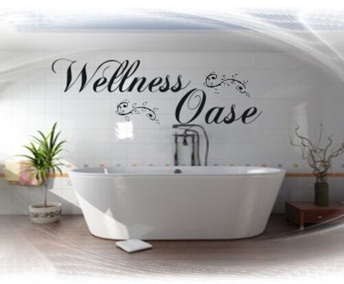 Wandtattoo Bad Badezimmer Wellness Oase Wandspruch,Wand Tattoo,Sticker