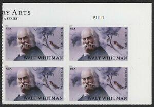 #5414 Walt Whitman, Placa Bloque [P11111 Ur ], Nuevo Cualquier 5=