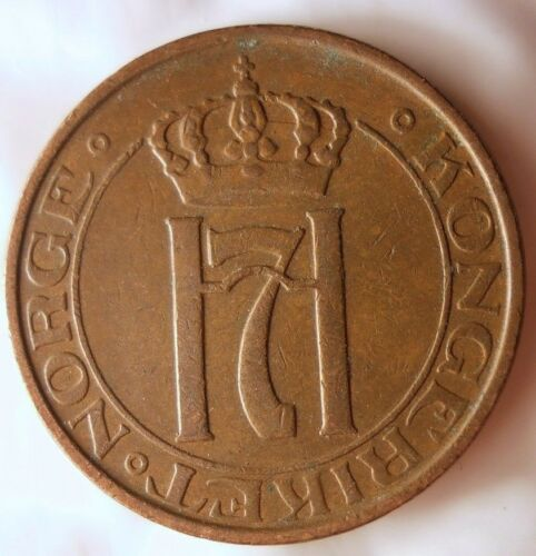FREE SHIPPING Excellent Vintage Coin Norway Bin #4 1938 NORWAY 2 ORE