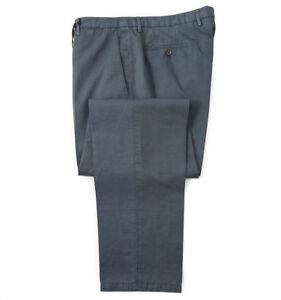 NWT-375-BOGLIOLI-Sea-Blue-Green-Cotton-Linen-Chinos-Slim-37-Eu-54-Pants
