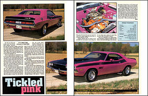 1970-DODGE-CHALLENGER-T-A-340-6-NICE-2-PAGE-MUSCLE-CAR-ARTICLE-AD