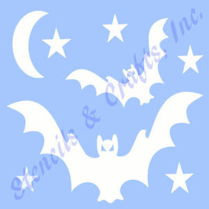 bat stencil star moon template stencils stars scrapbook paint craft