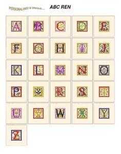 carte Jef fichiers JANOME 300e broderie Designs ABC polices Alphabet REN
