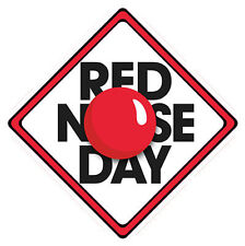 Red Nose Day Car Window Sign (£1 Goes To Comic Relief Charity) ~ 1