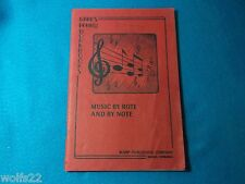 Music ~ by Rote and by Note ~ Review - Workbook ~ Warp Publishing Minden, NE