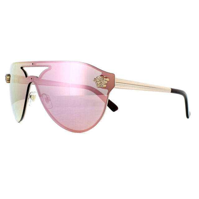 bb50c4f5d8f3 Versace Sunglasses 2161 10524z Copper Yellow Rose Mirror for sale ...