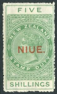 NIUE-1931-5-Green-Sg-52-MOUNTED-MINT-V20819