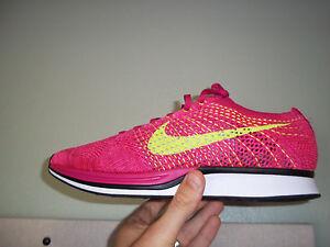 cccc978e0c52 Men s Nike Flyknit Racer size 14 (526628 607) Fireberry Volt No Box ...