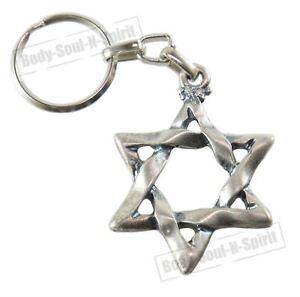 Llavero-Estrella-de-David-amuleto-de-la-suerte-recuerdo-de-Israel-idea-de-regalo