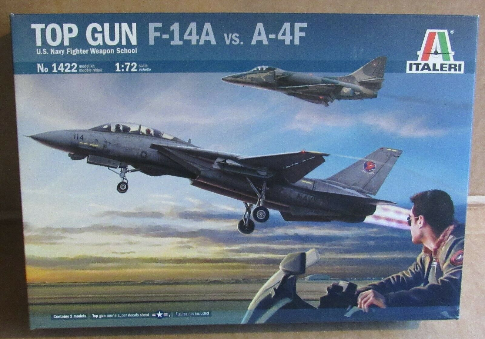 ITALIERI TOP GUN F -14A mot A -4F 1 72 SCALmodellllerL KIS U.S. NAVY kämpe SCHOOL