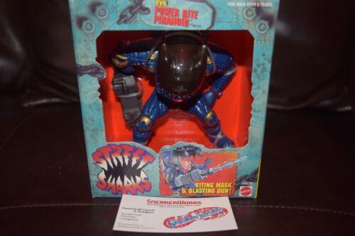 Nouveau Mattel Vintage Street Sharks Evil Power Morsure Piranoid Action Figure 1995 Comme neuf IN BOX