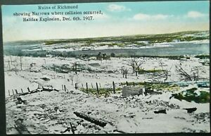 CANADA-WWI-PICTURE-POSTCARD-OF-THE-RUINS-OF-RICHMOND-AFTER-HALIFAX-EXPLOSION