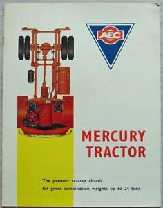AEC MERCURY TRACTOR Truck Commercial Vehicle Sales Brochure Mar 1963 #770.3.63