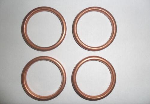 Joints cuivre d/'échappement approprié pour KAWASAKI ZRX1200R Set de 4