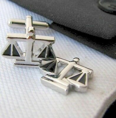 Attorney Scale Of Justice Cufflinks Judge Legal Lawyer